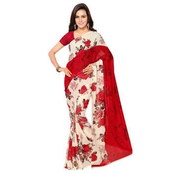 multicolor printed art_silk saree with blouse