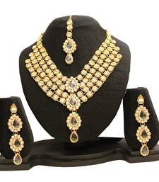 Buy White Diamond jewellery gemstone-necklaces gemstone-necklace online