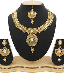Buy Gold zircon necklace-sets necklace-set online