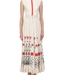 Buy white embroidered khadi semi stitched salwar semi-stitched-salwar-suit online