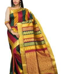 Buy Multicolor woven art silk saree  Saree online
