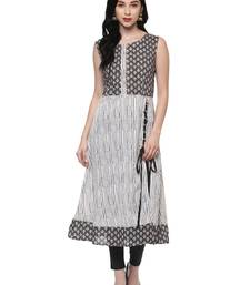 Buy off_white printed cotton stitched kurti wedding-season-sale online