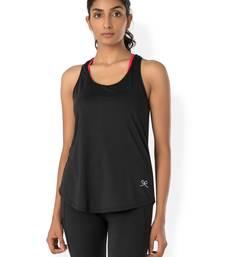 Buy Black workout gym wear Racerback Tee workout-gym-wear online