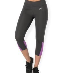Buy Grey workout gym wear Cropped Legging workout-gym-wear online