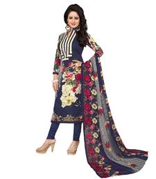Buy Multicolor printed cotton salwar with dupatta black-friday-deal-sale online