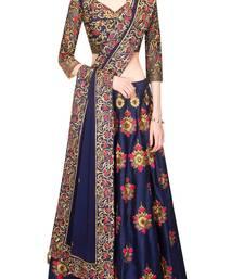 Buy Blue embroidered dupion silk unstitched lehenga with dupatta lehenga-below-2000 online