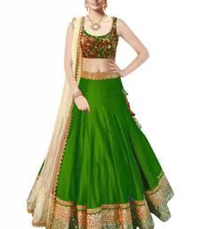 Buy green silk ambroidery lehenga choli  with dupatta (Premium quality) lehenga-choli online