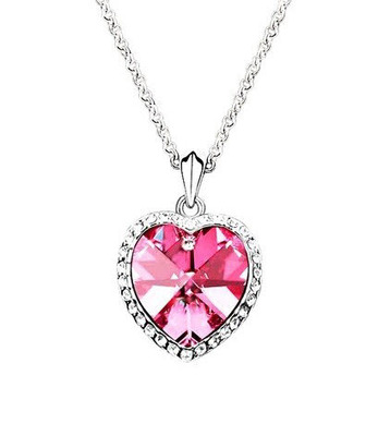 Valentine Special Crystal Heart Necklace