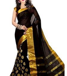 Buy Wine plain dupion silk saree with blouse dupion-saree online