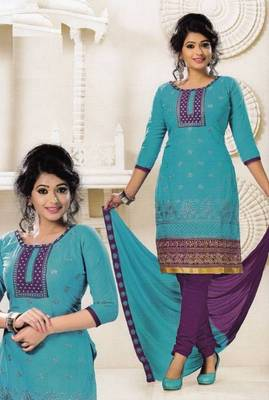 Radiant Cotton Embroidered Salwar Suit Dress Material D.NO SV1067