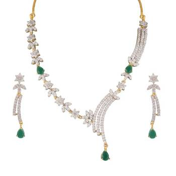 Heena Contemporary collection Necklace set @ HJNL67G