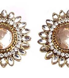 Buy White crystal earrings jewellery-below-300 online