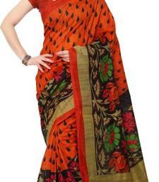 Buy Multicolor printed bhagalpuri silk saree with blouse below-300 online