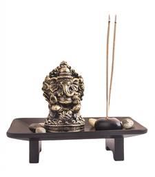 Buy Golden ganesha with rusty finish housewarming-gift online