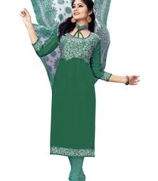 Buy Green printed chiffon salwar with dupatta salwar-kameez-below-300 online