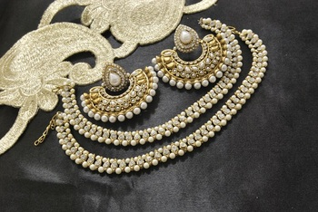 Bollywood Pearl  Earrings & Anklets