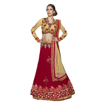 Khwaab Red Georgette Sheesha1008