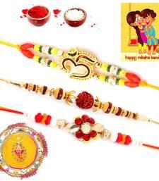 Buy Jaipuri Meenakari Pooja Thali Rakshabandhan Gift rakhi-pooja-thali online