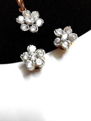 cute flower pendant set