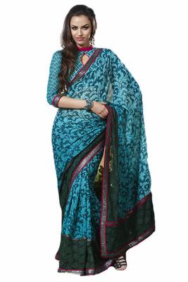 Extra Ordinary Designer Saree Munga Silk Fabric with Placement crasio net