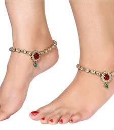 Buy Multicolor crystal anklets anklet online