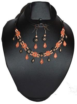 Handmade Terracotta Multicolor Pretty Please Traditional Necklace