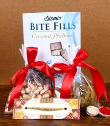 Buy Pistachio Nut and Raisins Gift for Rakhi rakhi-with-sweet online