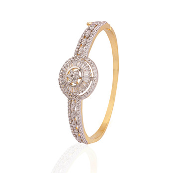 Panjarat gold plated american diamond  bracelet