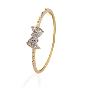 Hearty  gold plated american diamond  bracelet