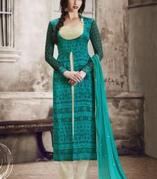 Buy Multicolor multi resham work georgette salwar with dupatta pakistani-salwar-kameez online
