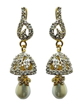 vatika beautiful jhumki styleamerican diamond earring