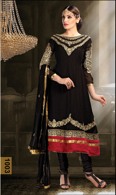 Black  Georgette Salwar Suit