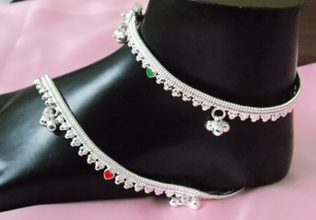Muticolor Crystal Anklets