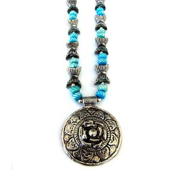 Flower Pendant necklace: Blue/JW-012Candy