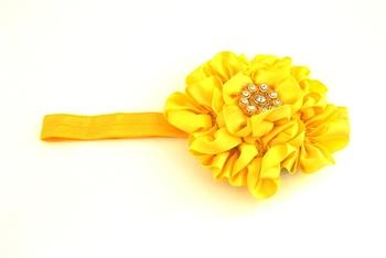 Yellow7 flower baby  hairband