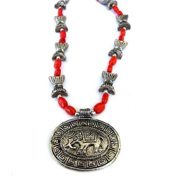 Elephant Pendant necklace:Red/008Red