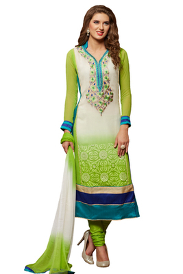 Multicolor Embroidered Georgette Unstiched