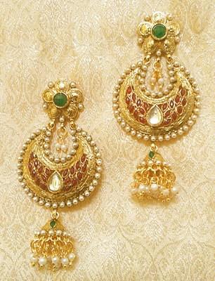 Designer Ethnic Bollywood Jhumki Jewellery Earrings Diwali,Wedding,Gift-LAE02MG