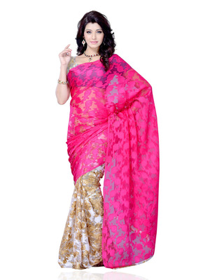 Beige Color Jacquard PartyFestival Wear Saree