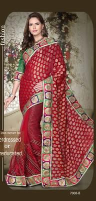 party wear cutpatch art silk saree.