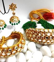 Buy rajputi kundan chokar haar designer-jewellery online