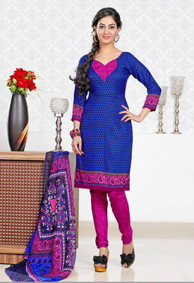 BLUE Fancy Ladies Suits with matching duppata DG2738