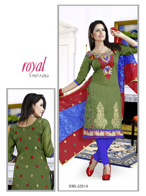 Green Color Designer Salwar Kameez
