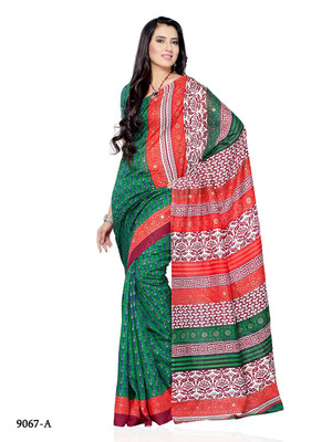 Multi Color Jacquard FestivalCasual Wear Saree