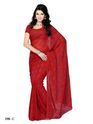 Red Color Jacquard Party Wear Fancy Designer Saree