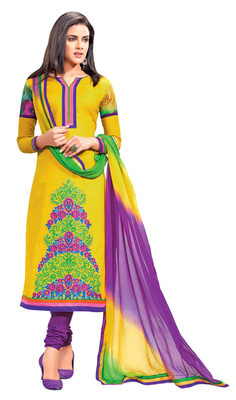 Amazing Embroidered Cotton Salwar Kameez
