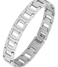 Buy Trendy biker macho 316l surgical stainless steel links bracelet for boys men men-bracelet online