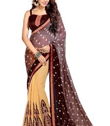 Buy Multicolor embroidered georgette saree with blouse below-1500 online