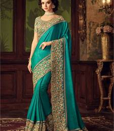 Buy green sequins_work georgette saree with blouse black-friday-deal-sale online