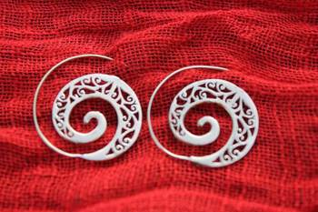 Tribal trivia Spiral Stencil Danglers